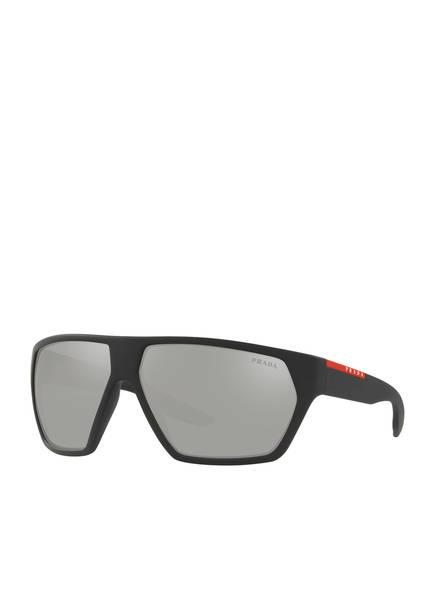 PRADA LINEA ROSSA Sonnenbrille PS 08US, Farbe: DG02B0 - MATT SCHWARZ/ GRAU VERSPIEGELT (Bild 1)