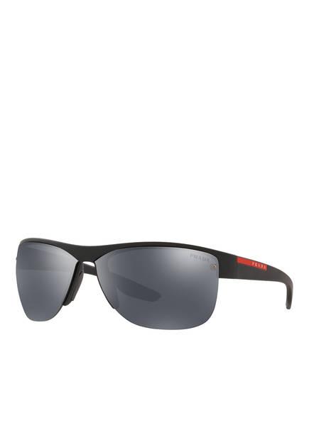 PRADA LINEA ROSSA Sonnenbrille PS 17US, Farbe: DG05L0 - SCHWARZ/ GRAU VERSPIEGELT (Bild 1)