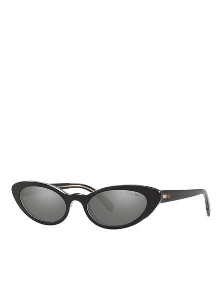 MIU MIU Sonnenbrille MU 09US, Farbe: 2AF175 - SCHWARZ/ GRAU VERSPIEGELT (Bild 1)