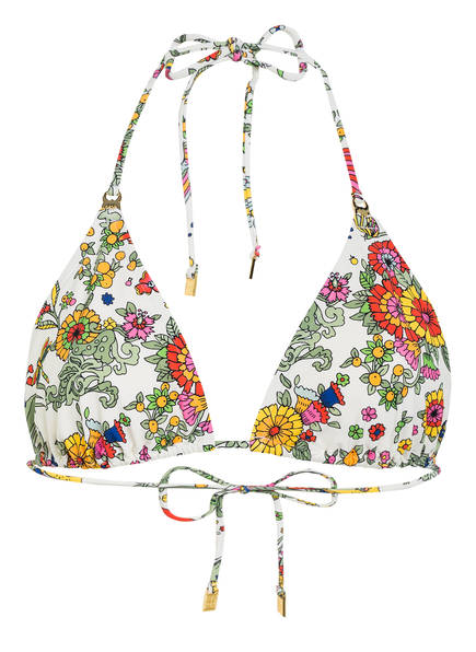 TORY BURCH Triangel-Bikini-Top, Farbe: ECRU/ GRÜN/ ORANGE (Bild 1)