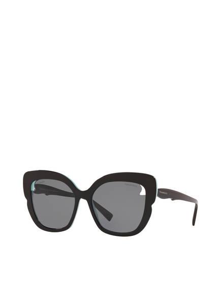 TIFFANY & Co. Sunglasses Sonnenbrille TF4161, Farbe: 805581 - SCHWARZ/ GRAU POLARISIERT (Bild 1)