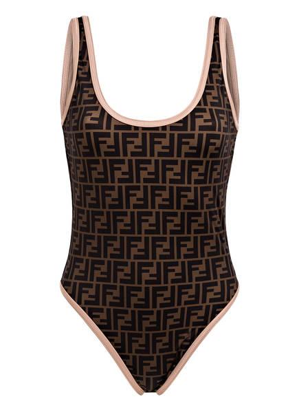 FENDI Badeanzug , Farbe: BRAUN/ SCHWARZ (Bild 1)