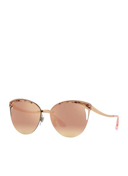 BVLGARI Sunglasses Sonnenbrille BV6110, Farbe: 20144Z - GOLD/ PINK VERSPIEGELT (Bild 1)