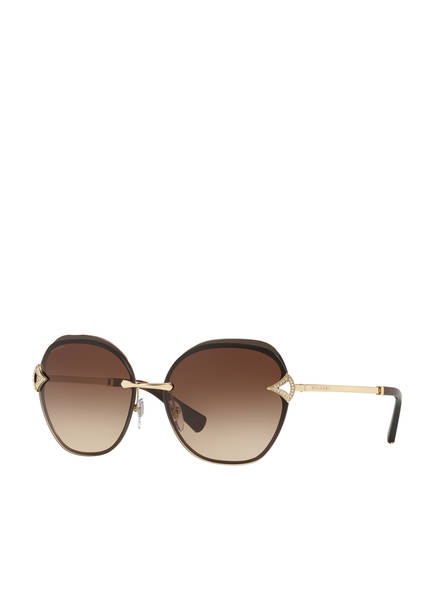 BVLGARI Sunglasses Sonnenbrille BV6111B mit Schmucksteinbesatz, Farbe: 203413 - GOLD/ BRAUN VERLAUF (Bild 1)