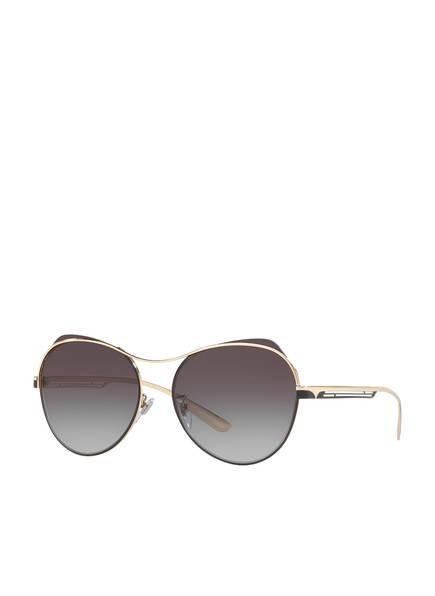 BVLGARI Sunglasses Sonnenbrille BV6120, Farbe: 20338G - GOLD/ BLAU VERLAUF (Bild 1)