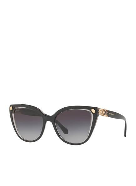 BVLGARI Sunglasses Sonnenbrille BV8212B mit Schmucksteinbesatz , Farbe: 54718G - SCHWARZ/ DUNKELGRAU VERLAUF (Bild 1)