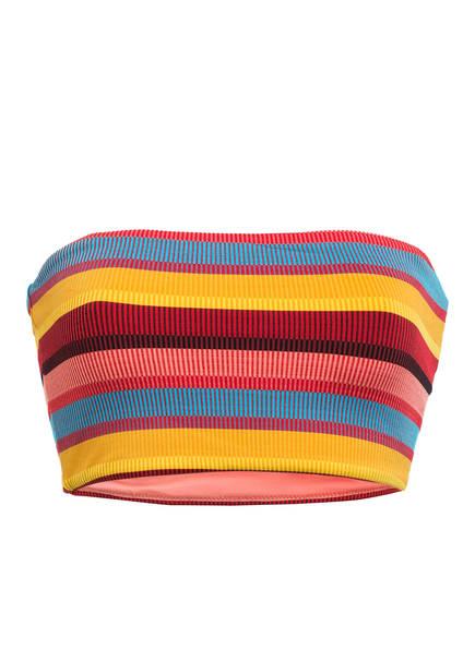 SEAFOLLY Bandeau-Bikini-Top BAJA STRIPE , Farbe: DUNKELROT/ HELLBLAU/ GELB (Bild 1)
