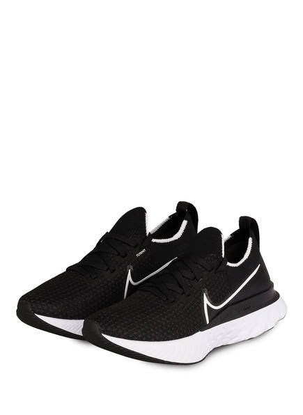Nike Laufschuhe REACT INFINITY RUN FLYKNIT, Farbe: SCHWARZ/ WEISS (Bild 1)