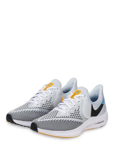 Nike Laufschuhe AIR ZOOM WINFLO 6, Farbe: HELLGRAU/ SCHWARZ/ HELLBLAU (Bild 1)