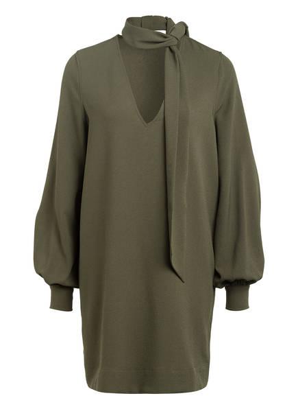 GANNI Kleid mit abnehmbarer Schluppe, Farbe: OLIV (Bild 1)