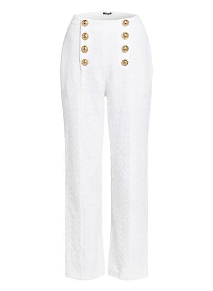 BALMAIN Tweed-Hose, Farbe: WEISS (Bild 1)