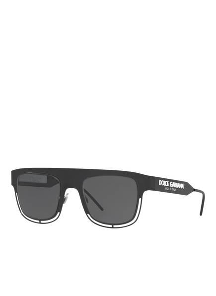 DOLCE&GABBANA Sonnenbrille DG2232, Farbe: 110687 - SCHWARZ MATT/ GRAU  (Bild 1)