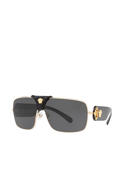 VERSACE Sonnenbrille VE2207Q, Farbe: 100287 - GOLD/ SCHWARZ/ SCHWARZ  (Bild 1)