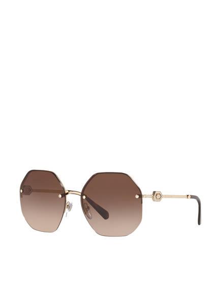 BVLGARI Sunglasses Sonnenbrille BV6122B, Farbe: 278/13 - GOLD/ DUNKELBRAUN VERLAUF (Bild 1)