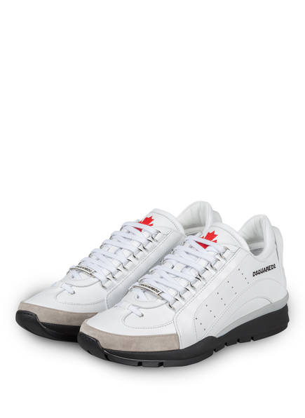 DSQUARED2 Sneaker 551, Farbe: WEISS/ TAUPE (Bild 1)