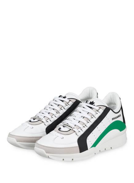 DSQUARED2 Sneaker , Farbe: WEISS/ SCHWARZ/ GRÜN (Bild 1)