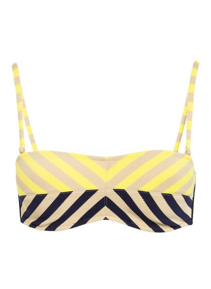 ANDRES SARDA Bandeau-Bikini-Top NAIF, Farbe: GELB/ BEIGE/ BLAU (Bild 1)