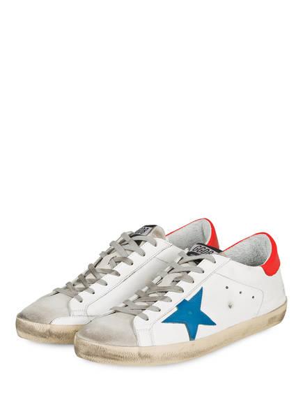 GOLDEN GOOSE DELUXE BRAND Sneaker SUPERSTAR, Farbe: WEISS/ BLAU /ROT (Bild 1)