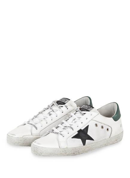 GOLDEN GOOSE DELUXE BRAND Sneaker SUPERSTAR, Farbe: WEISS/ SCHWARZ/ PETROL (Bild 1)