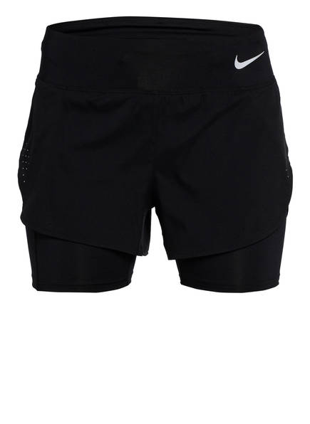 Nike 2-in-1-Laufshorts ECLIPSE, Farbe: SCHWARZ (Bild 1)