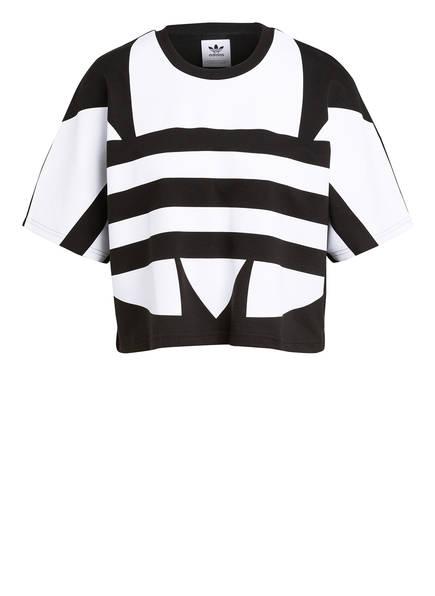 adidas Originals Cropped-Shirt, Farbe: SCHWARZ/ WEISS (Bild 1)