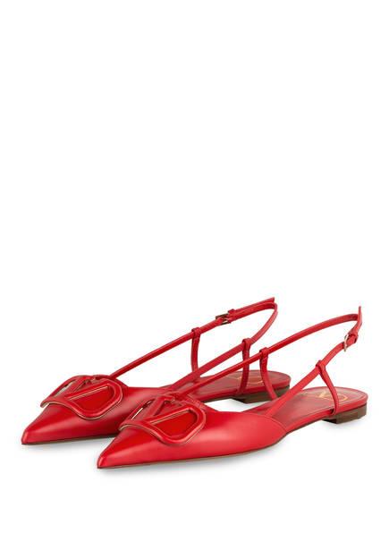 VALENTINO GARAVANI Sling-Ballerinas VLOGO, Farbe: ROT (Bild 1)