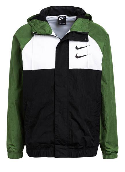 Nike Outdoor-Jacke SWOOSH , Farbe: GRÜN/ SCHWARZ/ WEISS (Bild 1)