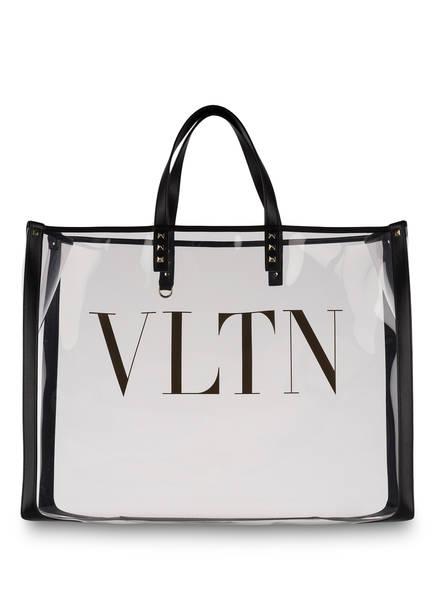 VALENTINO GARAVANI Shopper VLTN mit Pouch , Farbe: TRANSPARENT/ SCHWARZ (Bild 1)