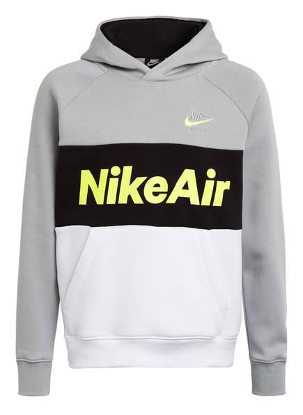 Nike Hoodie AIR, Farbe: GRAU/ SCHWARZ/ WEISS (Bild 1)