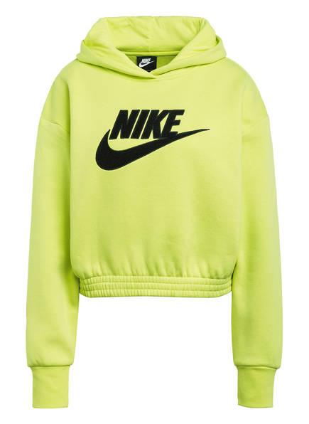Nike Cropped-Hoodie ICON CLASH, Farbe: NEONGELB (Bild 1)