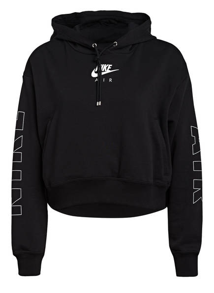 Nike Cropped-Hoodie AIR, Farbe: SCHWARZ/ SILBER (Bild 1)