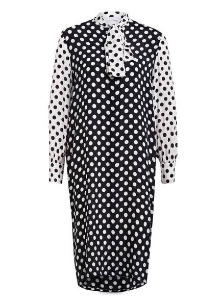 ESCADA SPORT Hemdblusenkleid mit Seide, Farbe: SCHWARZ/ WEISS (Bild 1)