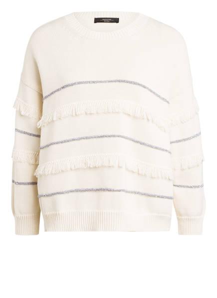 WEEKEND MaxMara Pullover ELFO mit Paillettenbesatz, Farbe: CREME (Bild 1)