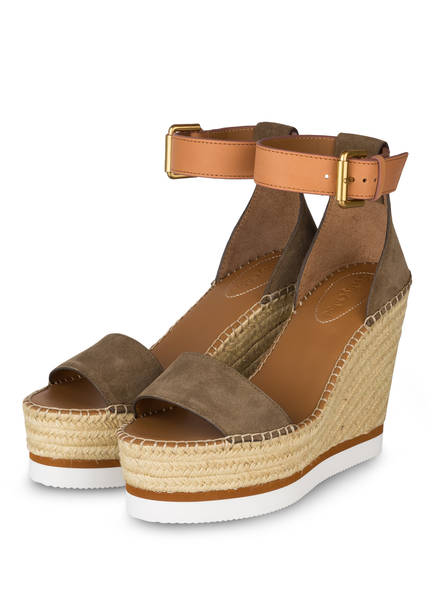 SEE BY CHLOÉ Wedges , Farbe: ALGHE/ CUOIO (Bild 1)