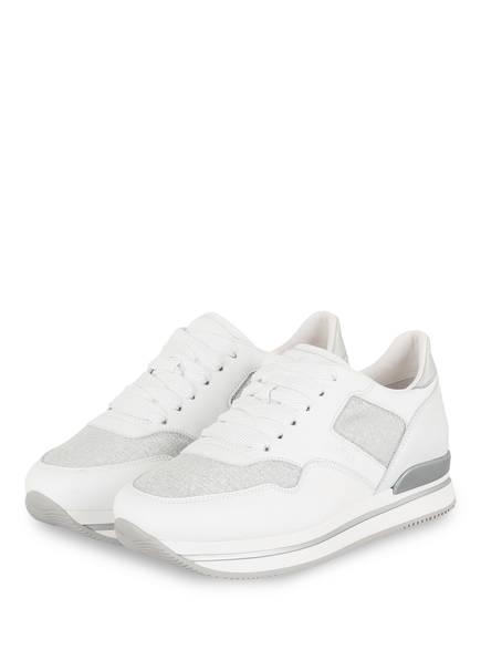 HOGAN Plateau-Sneaker, Farbe: WEISS/ SILBER (Bild 1)