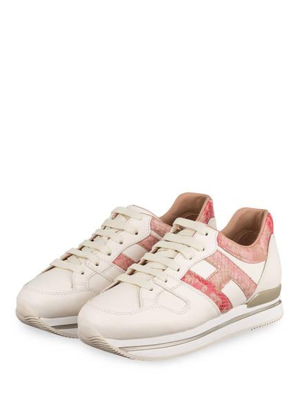 HOGAN Sneaker H222, Farbe: CREME/ ROSA (Bild 1)