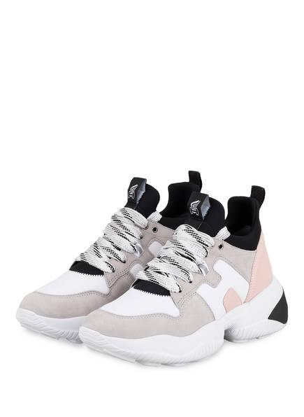 HOGAN Plateau-Sneaker INTERACTION, Farbe: WEISS/ HELLGRAU (Bild 1)