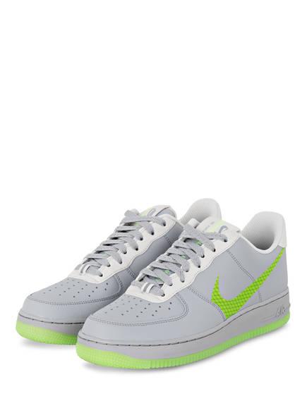 Nike Sneaker AIR FORCE 1 ´07, Farbe: GRAU/ NEONGRÜN (Bild 1)