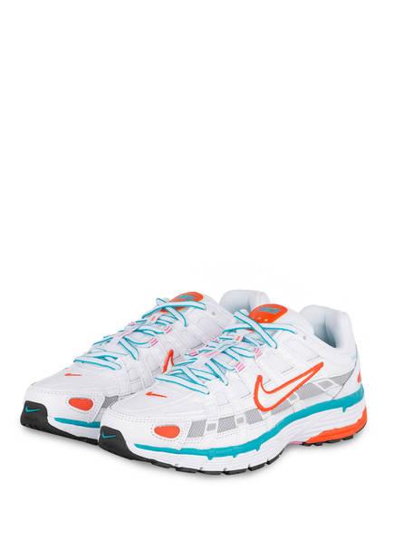 Nike Sneaker P-6000, Farbe: WEISS/ TÜRKIS/ ORANGE (Bild 1)