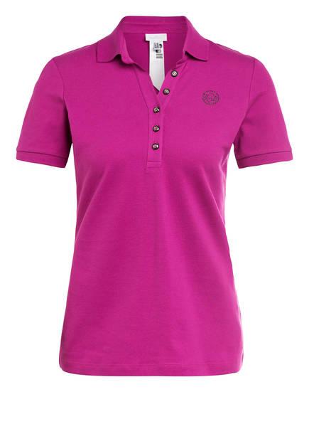 SPORTALM Piqué-Poloshirt mit Schmucksteinbesatz, Farbe: FUCHSIA (Bild 1)