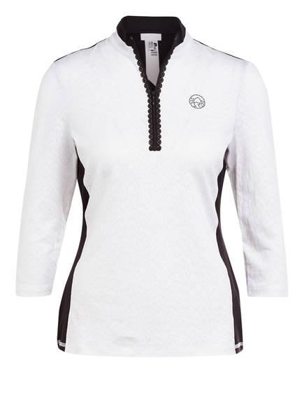 SPORTALM T-Shirt mit 3/4-Arm, Farbe: WEISS/ SCHWARZ (Bild 1)