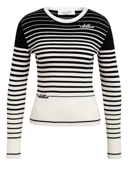 VALENTINO Pullover mit Cashmere, Farbe: WEISS/ SCHWARZ (Bild 1)
