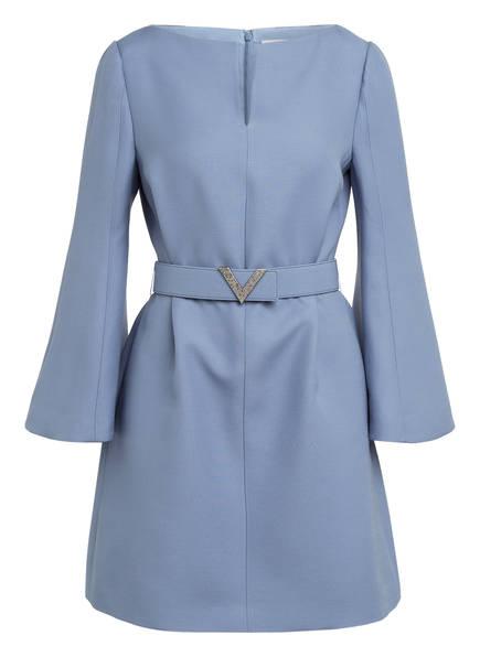 VALENTINO Kleid mit Seide, Farbe: BLAUGRAU (Bild 1)