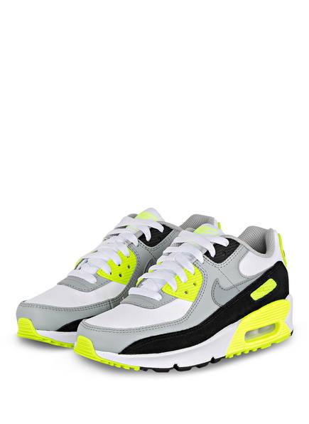 Nike Plateau-Sneaker AIR MAX 90 LTR, Farbe: SCHWARZ/ GRAU/ NEONGRÜN (Bild 1)
