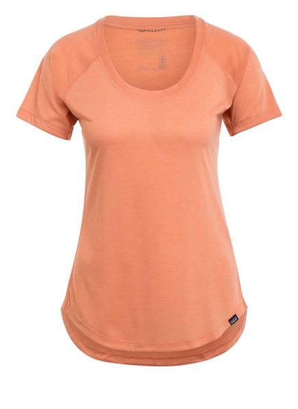 patagonia T-Shirt CAPILENE® COOL, Farbe: ORANGE MELIERT (Bild 1)