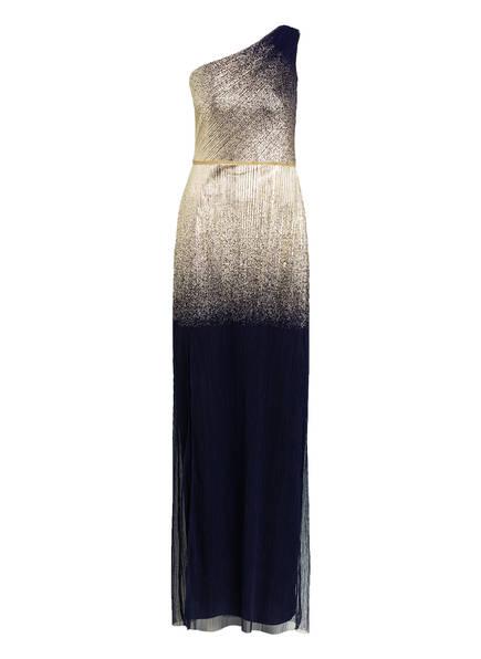 MARCHESA NOTTE One-Shoulder-Abendkleid, Farbe: DUNKELBLAU/ GOLD (Bild 1)