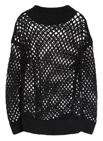 FABIANA FILIPPI Cashmere-Pullover mit Paillettenbesatz, Farbe: DUNKELGRAU (Bild 1)