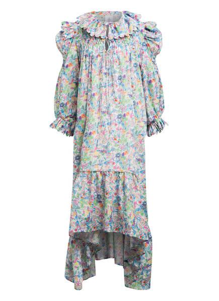 HORROR VACUI Kleid DEFENSIA mit Volantbesatz, Farbe: WEISS/ BLAU/ HELLLILA (Bild 1)