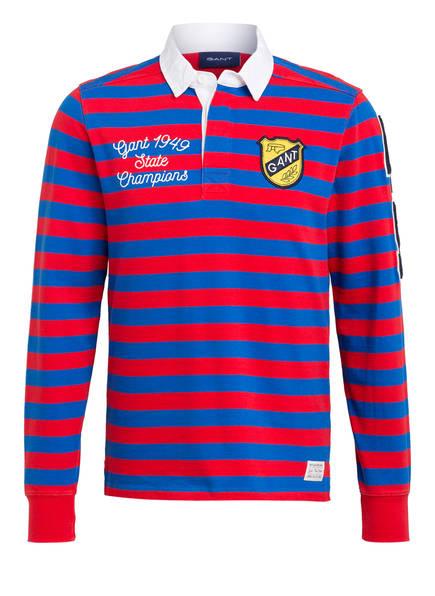 GANT Jersey-Poloshirt HEAVY RUGGER, Farbe: BLAU/ ROT GESTREIFT (Bild 1)