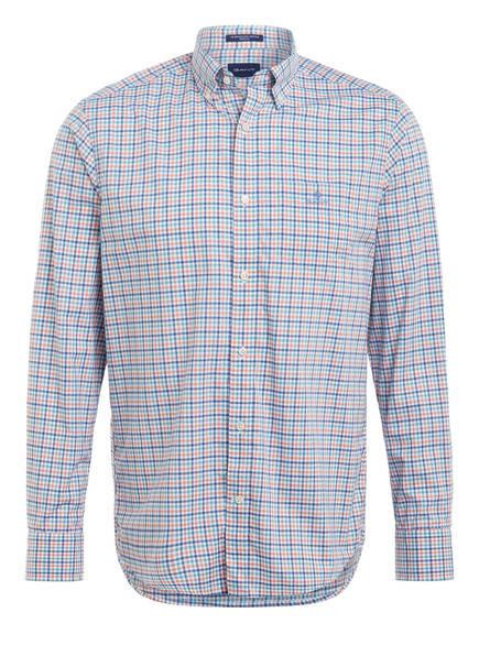 GANT Hemd Regular Fit, Farbe: WEISS/ BLAU/ ORANGE KARIERT (Bild 1)